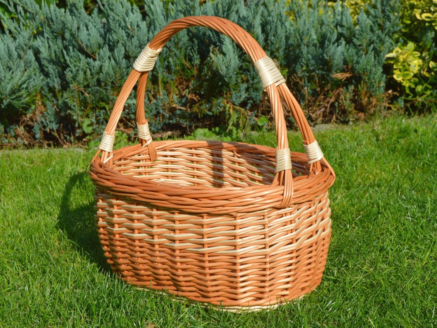 Proutěný nákupní košík Lucie