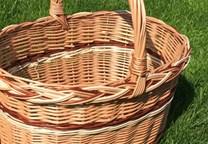 Proutěný nákupní košík Nikolka