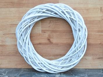 Proutěný věnec bílý - průměr 36 cm