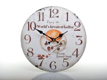 Nástěnné hodiny s kávou WORLD´S GREATEST COFFEE