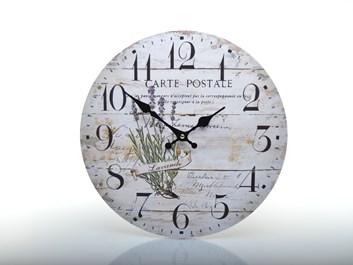 Rustikální hodiny na zeď PROVENCE