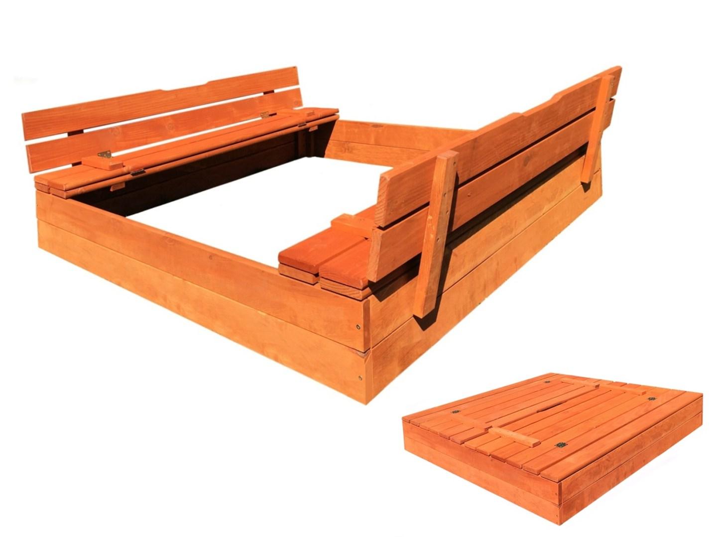 Dětské pískoviště s krytem dřevěné
