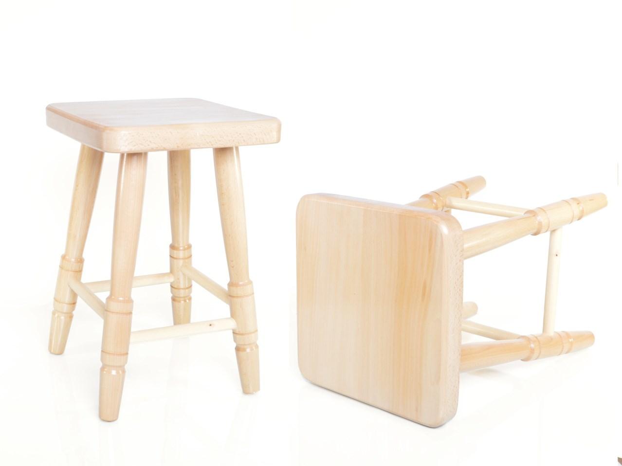 Přírodní stolička čtvercová