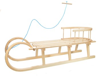Dřevěné sáně s ohrádkou
