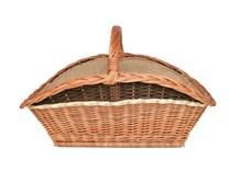 Krbový koš na dřevo Pavel, obšitý jutou (xko s jutou a pruhem)