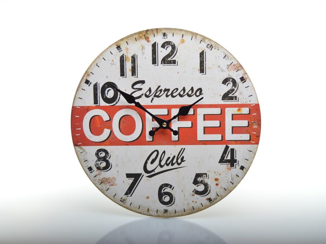 Nástěnné hodiny s kávou ESPRESSO COFFEE CLUB HLC1433