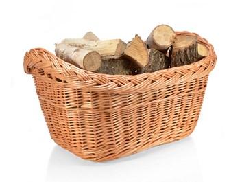Koš na dřevo proutěný - vana
