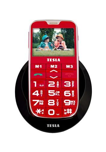TESLA SimplePhone A50 červená - mobilní telefon