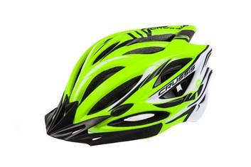 CRUSSIS Cyklistická přilba žlutá neon - bílá L/XL vel.58-62