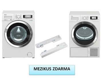 BEKO WMY 81243 CS PTLMB1 + DE 8635 RX0 set pračka a sušička