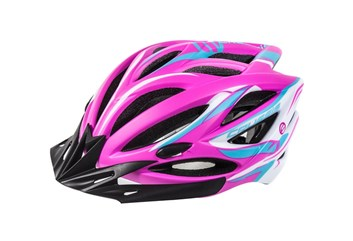 CRUSSIS Cyklistická přilba růžová neon - bílá S/M vel.55-59