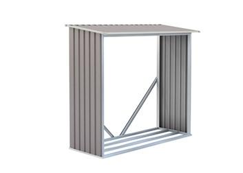 G21 Přístřešek na dřevo WOH 136 - 182 x 75 cm, šedý