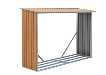 G21 Přístřešek na dřevo WOH 181 - 242 x 75 cm, hnědý