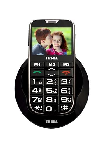 TESLA SimplePhone A50 černá - mobilní telefon