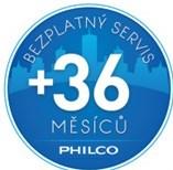 PHILCO bezplatný servis 36 měsíců nad rámec záruky