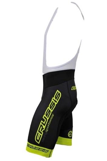 Crussis Cyklistické kraťasy - černá / žlutá fluo, vel. XL