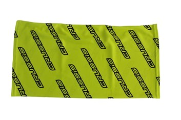 Crussis Pánský tubus na krk - žlutá fluo / černé logo
