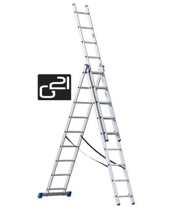 G21 Žebřík 3-dílný 5,9m 3x9 příček