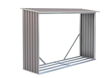 G21 Přístřešek na dřevo WOH 181 - 242 x 75 cm, šedý