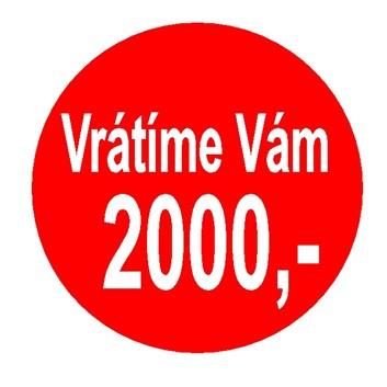 Vrátíme Vám 2000,- Kč zpět