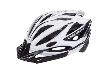 CRUSSIS Cyklistická přilba bílo-černá L/XL vel.58-62