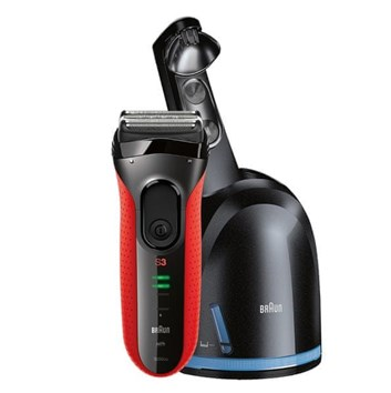 BRAUN Series 3 3050 Clean&Charge Red holicí strojek