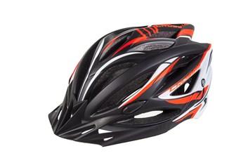 CRUSSIS Cyklistická přilba černo-oranžovo-bílá L/XL vel.58-62