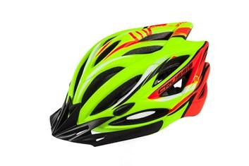CRUSSIS Cyklistická přilba žlutá neon - oranžová neon S/M vel.55-59