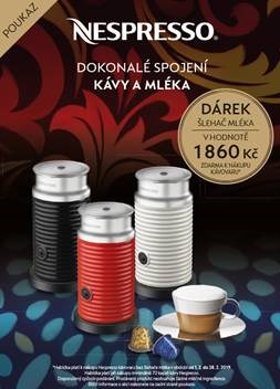 Poukaz na šlehač mléka NESPRESSO AEROCCINO BLACK
