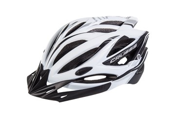 CRUSSIS Cyklistická přilba bílo-černá S/M vel.55-59