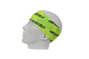 Crussis Čelenka - žlutá fluo maskáč / černé logo