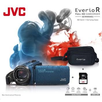 JVC GZ-R495AKIT FULL HD VODOTĚSNÁ KAMERA