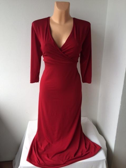 Společenské tmavo červené šaty ERIKA