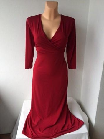 Společenské tmavě červené šaty ERIKA