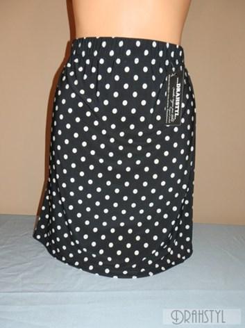 Černá puntíkovaná sukně