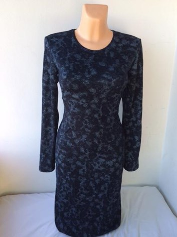 Šaty FIROLA- podzimní modré, nebo cihlové
