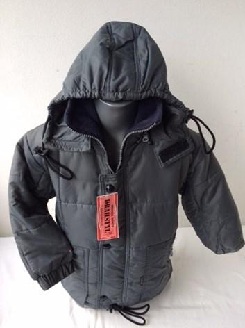 zimní bunda šedá 104 a 122