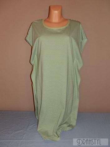 Proužkované šaty zelené- volnočasové  XL