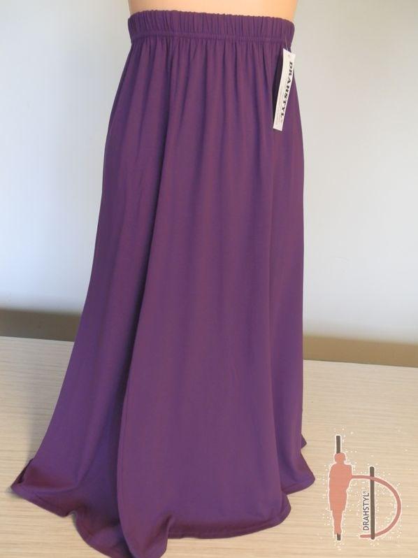 Dámská letní fialová sukně jednobarevná LOPAC