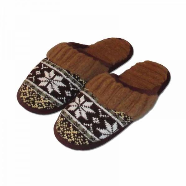 Pánské teplé domácí pantofle s vlnou 44,45,46