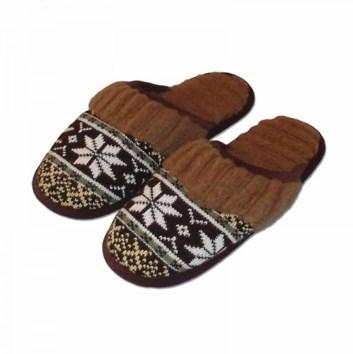 Pánské domácí  teplé vlněné pantofle