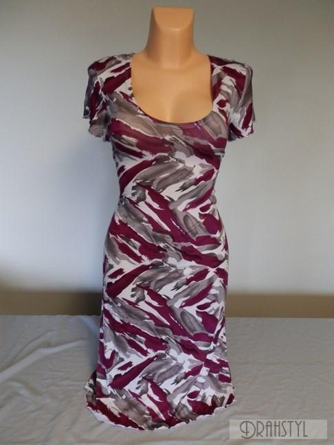 Letní šaty s fialovými čárami  LIKOC