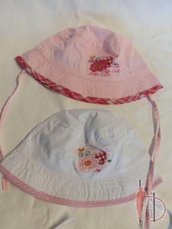 Dívčí slabý plátěný klobouček
