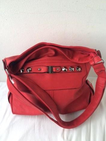 Dámská červená crosby kabelka přes rameno velká