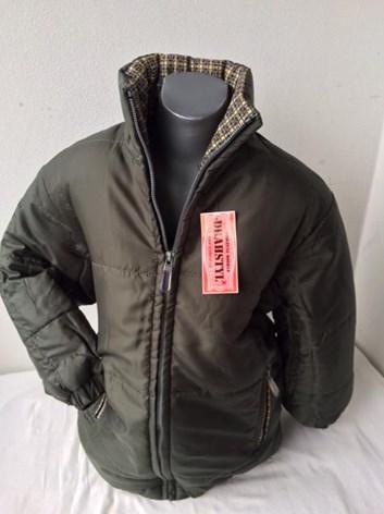 Zimní bunda khaki zelená 128