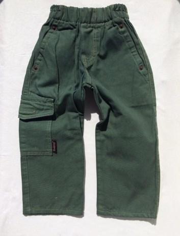 Zateplené khaki chlapecké kalhoty 80,86,92,104