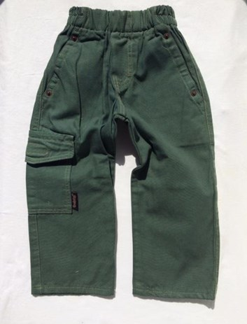 Slabé khaki chlapecké kalhoty 80,86,92,104