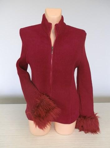 Tmavě červený svetr VILA