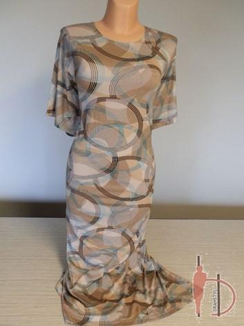 Světlé béžové šaty ve velikosti 54,56