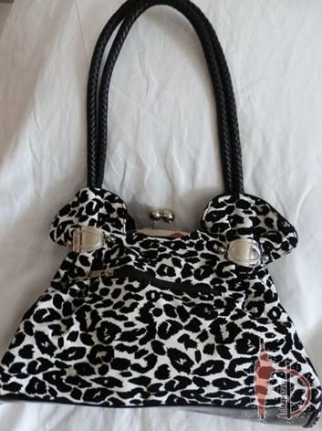 Dámská kabelka leopard bílo-černá